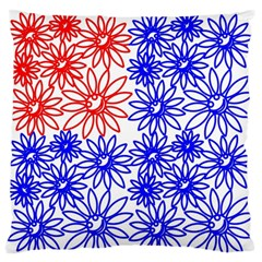 Flower Floral Smile Face Red Blue Sunflower Standard Flano Cushion Case (two Sides) by Alisyart