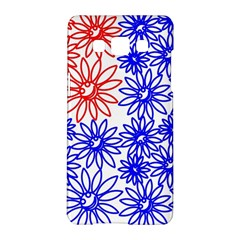 Flower Floral Smile Face Red Blue Sunflower Samsung Galaxy A5 Hardshell Case  by Alisyart