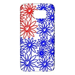 Flower Floral Smile Face Red Blue Sunflower Galaxy S6 by Alisyart