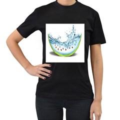 Fruit Water Slice Watermelon Women s T Shirt (black) by Alisyart