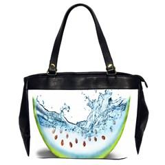 Fruit Water Slice Watermelon Office Handbags (2 Sides)  by Alisyart