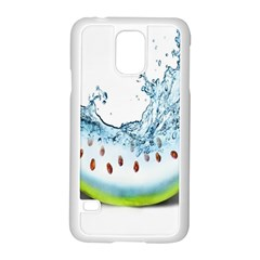Fruit Water Slice Watermelon Samsung Galaxy S5 Case (white) by Alisyart