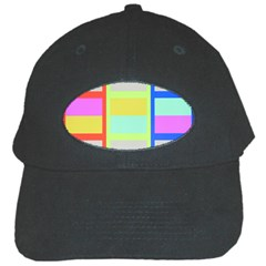 Maximum Color Rainbow Red Blue Yellow Grey Pink Plaid Flag Black Cap by Alisyart
