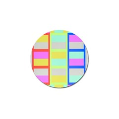 Maximum Color Rainbow Red Blue Yellow Grey Pink Plaid Flag Golf Ball Marker (10 Pack) by Alisyart