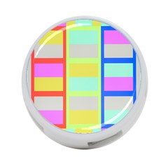 Maximum Color Rainbow Red Blue Yellow Grey Pink Plaid Flag 4 Port Usb Hub (two Sides)  by Alisyart