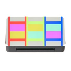 Maximum Color Rainbow Red Blue Yellow Grey Pink Plaid Flag Memory Card Reader With Cf by Alisyart