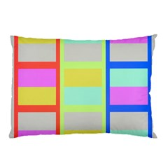 Maximum Color Rainbow Red Blue Yellow Grey Pink Plaid Flag Pillow Case (two Sides) by Alisyart
