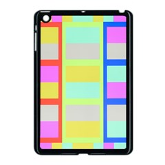 Maximum Color Rainbow Red Blue Yellow Grey Pink Plaid Flag Apple Ipad Mini Case (black) by Alisyart