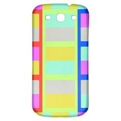 Maximum Color Rainbow Red Blue Yellow Grey Pink Plaid Flag Samsung Galaxy S3 S Iii Classic Hardshell Back Case by Alisyart