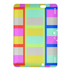 Maximum Color Rainbow Red Blue Yellow Grey Pink Plaid Flag Kindle Fire Hdx 8 9  Hardshell Case by Alisyart