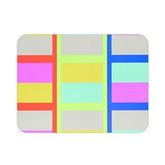 Maximum Color Rainbow Red Blue Yellow Grey Pink Plaid Flag Double Sided Flano Blanket (mini)  by Alisyart