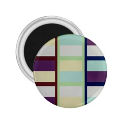 Maximum Color Rainbow Brown Blue Purple Grey Plaid Flag 2 25  Magnets by Alisyart