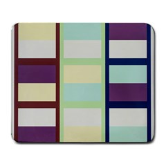 Maximum Color Rainbow Brown Blue Purple Grey Plaid Flag Large Mousepads by Alisyart