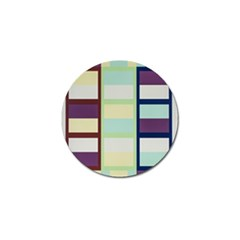 Maximum Color Rainbow Brown Blue Purple Grey Plaid Flag Golf Ball Marker (10 Pack) by Alisyart