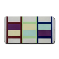Maximum Color Rainbow Brown Blue Purple Grey Plaid Flag Medium Bar Mats by Alisyart