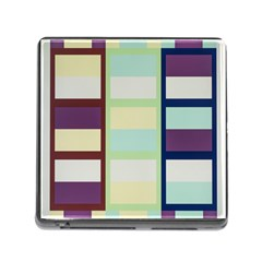 Maximum Color Rainbow Brown Blue Purple Grey Plaid Flag Memory Card Reader (square) by Alisyart