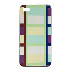 Maximum Color Rainbow Brown Blue Purple Grey Plaid Flag Apple Iphone 4/4s Seamless Case (black) by Alisyart