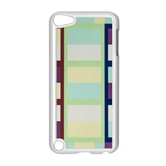 Maximum Color Rainbow Brown Blue Purple Grey Plaid Flag Apple Ipod Touch 5 Case (white) by Alisyart
