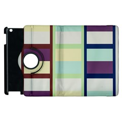 Maximum Color Rainbow Brown Blue Purple Grey Plaid Flag Apple Ipad 3/4 Flip 360 Case by Alisyart