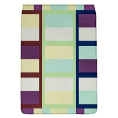 Maximum Color Rainbow Brown Blue Purple Grey Plaid Flag Flap Covers (l)  by Alisyart