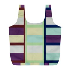 Maximum Color Rainbow Brown Blue Purple Grey Plaid Flag Full Print Recycle Bags (l)  by Alisyart