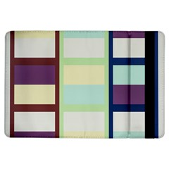 Maximum Color Rainbow Brown Blue Purple Grey Plaid Flag Ipad Air Flip by Alisyart