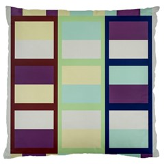 Maximum Color Rainbow Brown Blue Purple Grey Plaid Flag Large Flano Cushion Case (one Side) by Alisyart