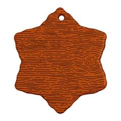 Illustration Orange Grains Line Ornament (snowflake) by Alisyart