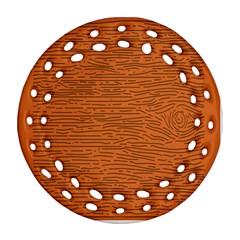Illustration Orange Grains Line Round Filigree Ornament (two Sides) by Alisyart