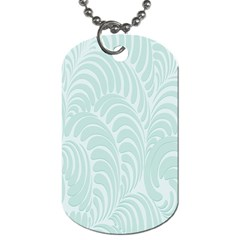 Leaf Blue Dog Tag (two Sides) by Alisyart
