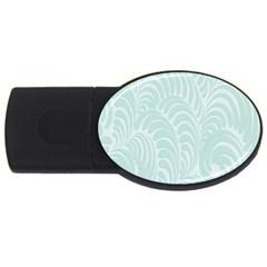 Leaf Blue Usb Flash Drive Oval (4 Gb) by Alisyart