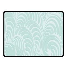 Leaf Blue Fleece Blanket (small) by Alisyart