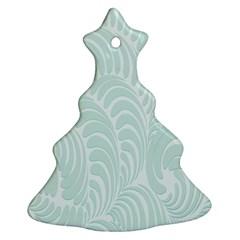 Leaf Blue Ornament (christmas Tree)  by Alisyart