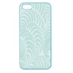 Leaf Blue Apple Seamless Iphone 5 Case (color) by Alisyart