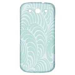 Leaf Blue Samsung Galaxy S3 S Iii Classic Hardshell Back Case by Alisyart