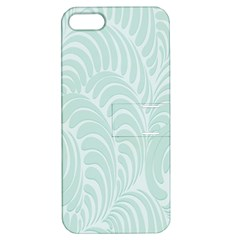 Leaf Blue Apple Iphone 5 Hardshell Case With Stand by Alisyart