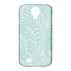 Leaf Blue Samsung Galaxy S4 Classic Hardshell Case (pc+silicone) by Alisyart