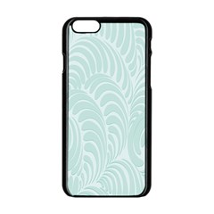 Leaf Blue Apple Iphone 6/6s Black Enamel Case by Alisyart