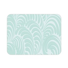 Leaf Blue Double Sided Flano Blanket (mini)  by Alisyart
