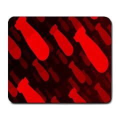 Missile Rockets Red Large Mousepads by Alisyart