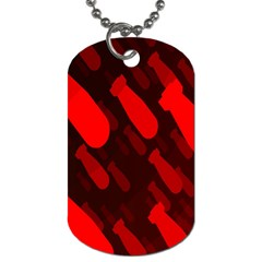 Missile Rockets Red Dog Tag (two Sides) by Alisyart
