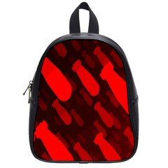 Missile Rockets Red School Bags (small)  by Alisyart