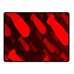 Missile Rockets Red Fleece Blanket (small) by Alisyart