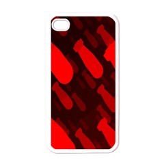 Missile Rockets Red Apple Iphone 4 Case (white) by Alisyart