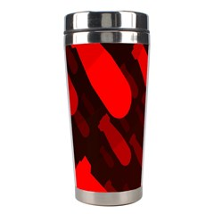 Missile Rockets Red Stainless Steel Travel Tumblers by Alisyart