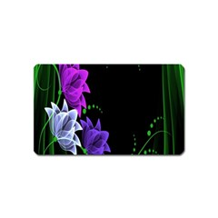 Neon Flowers Floral Rose Light Green Purple White Pink Sexy Magnet (name Card)