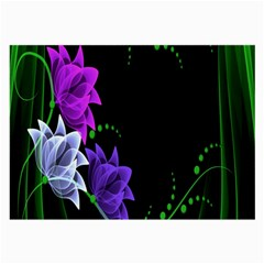 Neon Flowers Floral Rose Light Green Purple White Pink Sexy Large Glasses Cloth by Alisyart