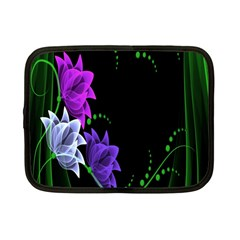 Neon Flowers Floral Rose Light Green Purple White Pink Sexy Netbook Case (small)  by Alisyart