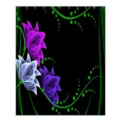Neon Flowers Floral Rose Light Green Purple White Pink Sexy Shower Curtain 60  X 72  (medium)  by Alisyart
