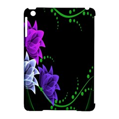 Neon Flowers Floral Rose Light Green Purple White Pink Sexy Apple Ipad Mini Hardshell Case (compatible With Smart Cover) by Alisyart
